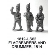 US Flagbearers and Drummer, 1814
