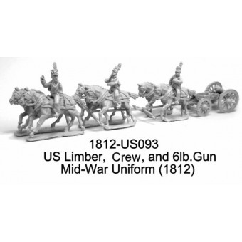 US LImber, Riders, Horses, and Gun, Early-Mid War