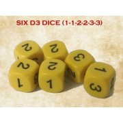 Gunfighter's Ball 6-sided D3s x 6