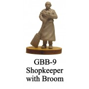 Shopkeeper with Broom