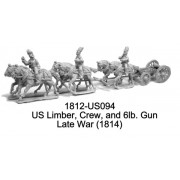 US Limber, Riders, Horses, and Gun, Late-War