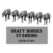 HO Scale Standing Draft Horses