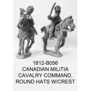 Canadian Militia Cavalry Command, Round Hats w/ Bearskin Crest