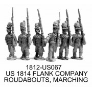 US FLANK COMPANY, 1814 ROUNDABOUTS, MARCHING