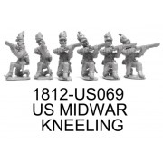 US MIDWAR INFANTRY KNEELING