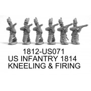 US INFANTRY 1814, KNEELING AND FIRING