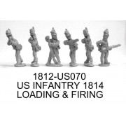 US INFANTRY 1814 FIRING & LOADING