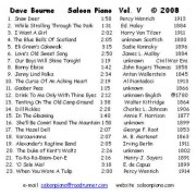 Dave Bourne Saloon Piano Volume 5