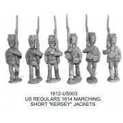 US REGULARS 1814, SHORT KERSEY JACKETS, MARCHING