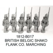 BRITISH/CANADIAN FLANK COMPANY MARCHING, BELGIC SHAKO