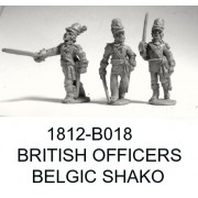 BRITISH/CANADIAN OFFICERS, BELGIC SHAKO