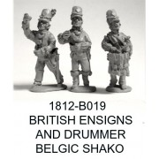 BRITISH/CANADIAN ENSIGNS AND DRUMMER, BELGIC SHAKO