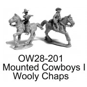 MOUNTED COWBOYS I; WOOLY CHAPS