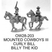 MOUNTED COWBOYS III; CURLY BILL AND BILLY THE KID