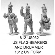 US Flagbearers and Drummer 1812