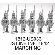 US Line Infantry Marching, 1812 uniform