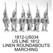 US INFANTRY MARCHING, 1812 SUMMER UNIFORM