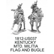 Kentucky Mounted Militia Volunteers Bugler and Flagbearer