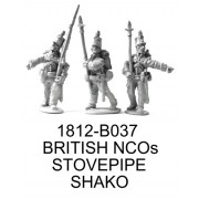 BRITISH NCOS IN STOVEPIPE SHAKOS