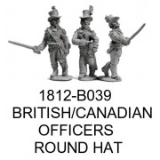 British/Canadian Officers in Round Hats