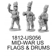 US MIDWAR FLAGS AND DRUM