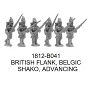 British Flank Company, Belgic, Advancing