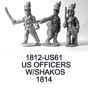 US Officers With Tombstone Shakos, 1814