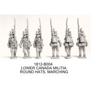 CANADIAN MILITIA IN ROUND HATS MARCHING
