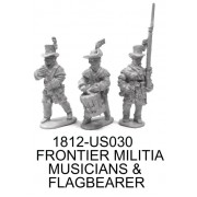 FRONTIER MILITIA FLAGBEARER AND MUSICIANS