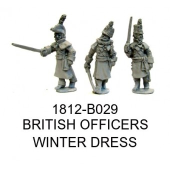 BRITISH OFFICERS IN WINTER DRESS