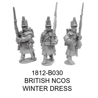 BRITISH NCOS IN WINTER DRESS