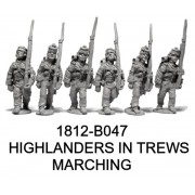 Highlanders in Trews, Center Co. Marching